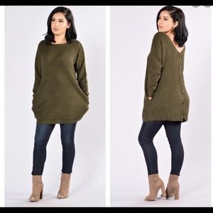 FN olive sweater